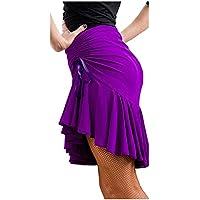 Falda de Danza Latina para Mujer Bailando Traje de Baile Tango Swing Rumba Cha Cha Bailando