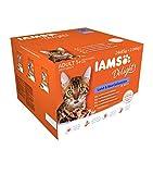 IAMS Delights Land & Sea Collection in Gelee - Ausgewogenes Nassfutter in verschiedenen Geschmackssorten für erwachsene Katzen ab 1 Jahr - 24 x 85g Frischebeutel