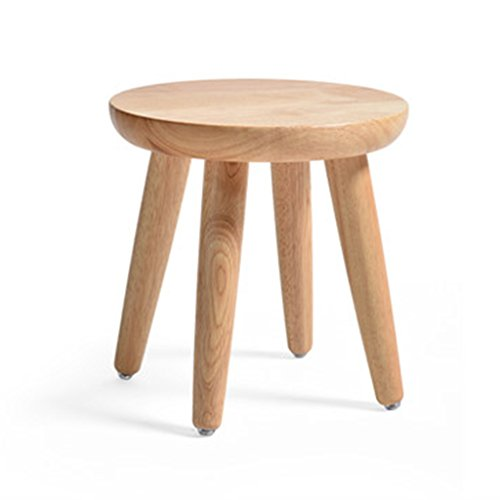Salon solide bois table à manger tabouret simple chêne rond tabouret ( Color : Natural , Size : 31*30cm )