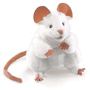 Folkmanis Puppets - 2219 - Marionnette et Théâtre - White Mouse