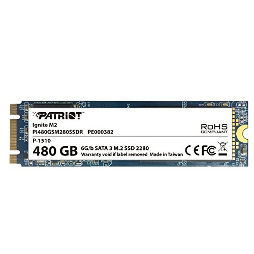 Patriot Memory Ignite M2 480GB 480GB M.2 Serial ATA III - internal solid state drives (480 GB, M.2, Serial ATA III, 560 MB/s, 6 Gbit/s)
