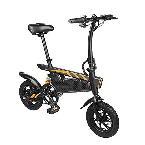Elektro-Moped-Fahrrad for Erwachsene 7.8Ah 36V 250W 12 Zoll Folding Elektro-Fahrrad 25 km / h Höchstgeschwindigkeit Max Bearing 120kg leistungsstarker Motor ( Farbe : Schwarz , Größe : Einheitsgröße )