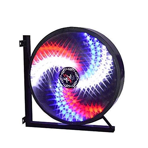 Wsjfc Schönheitssalon drehen LED-Licht, Friseursalon drehen Licht Friseursalon drehen Licht Zeichen Licht Wand Windmühle führte großes rundes Licht modisch drehen (größe : 58x32x58cm),58x32x58cm