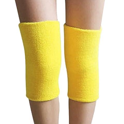 ACME Elastische Kniebandage Knieschützer für Damen und Herren,25*12cm,2er Set,Gelb