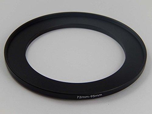 vhbw Metall Step UP Filter Adapter 72mm-95mm schwarz für Kamera, Objektiv, Filter, Gegenlichtblenden, Objektivvorsätze (Gegenlichtblende 72mm Tulpe)