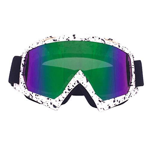 Sportbrille Rad Motorradausrüstung Off Road Brille Skibrille Brille Helm Reiten Outdoor Brille White Black Multicolor Damen Herren
