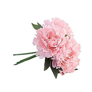 Sayla Flores Artificiales DecoracióN Jarrones PeoníAs De Seda Artificial para Ramo De Novia Flores De Seda para DecoracióN del Hogar O Bodas Hogar Oficina Fiesta