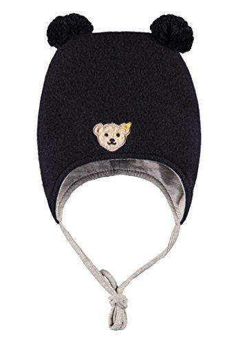 Steiff Baby-Mädchen Mütze Fleece, Blau (Marine|Blue 3032), 39 (Baby-fleece-mütze Fleece)