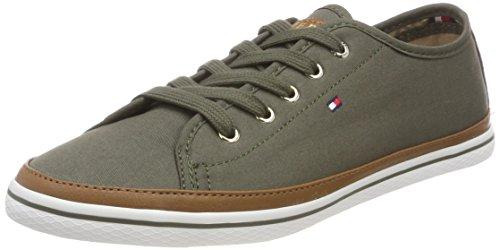 Tommy Hilfiger Damen Iconic Kesha Sneaker Grün (Dusty Olive 011)