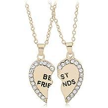 6135cea9b9f2 Fansi Conjunto de 2 Collares para Mujer