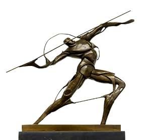 Bronze futuriste Figurine-Guerrier avec une lance-Signature-Umberto Boccioni