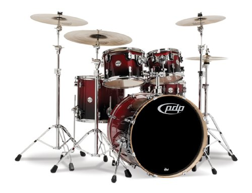 Pacific Drums PDCB2215CB Concept Series 5-teiliges Trommelset Cherry to Black Fade