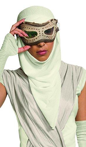 Rubie's - mascherina per occhi con cappuccio di rey di star wars, prodotto ufficiale, da adulti - taglia unica