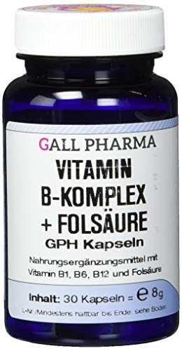 B-komplex-30 Kapseln (Gall Pharma Vitamin B-Komplex + Folsäure GPH Kapseln, 30 Kapseln)