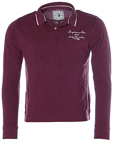 Arqueonautas Herren Pikee Poloshirt Polo Shirt Langarm Lila
