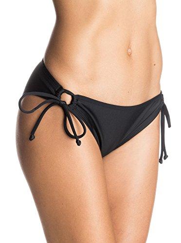 Roxy Damen Surf Essentials Bikini Bottoms, True Black, M, ARJX403079-KVJ0 (Hosen Damen Lowrider)