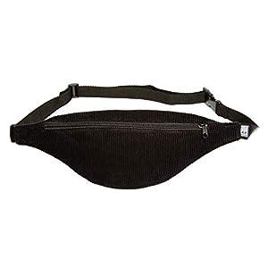 Bauchtasche schmal, Cord breit schwarz, Hip bag, shoulder bag, fanny pack, Hüfttasche, belt bag, sac banane, cross bag