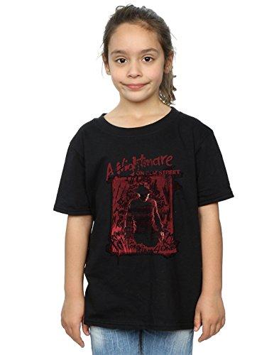 Absolute Cult Nightmare on Elm Street Girls Freddy Silhouette T-Shirt