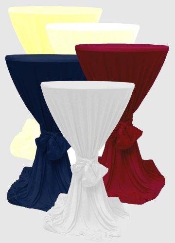 1x Stehtisch-Husse mit Bindeschal in der Farbe Sekt Garten, Tisch