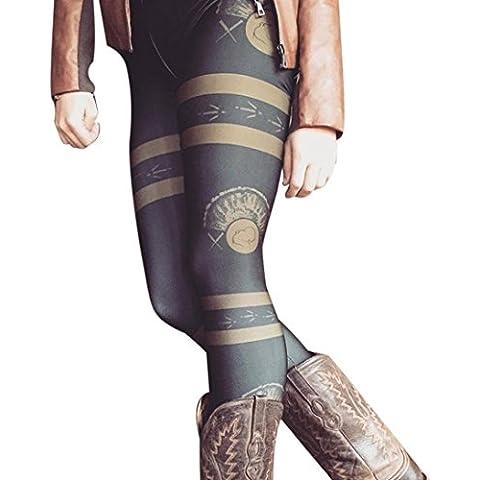 Fortan Le donne di modo di autunno inverno Magro stampato i pantaloni di stirata Leggings