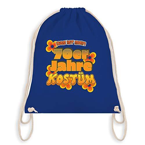 Shirtracer Karneval & Fasching - Das ist mein 70er Jahre Kostüm - Unisize - Royalblau - WM110 - Turnbeutel & Gym Bag