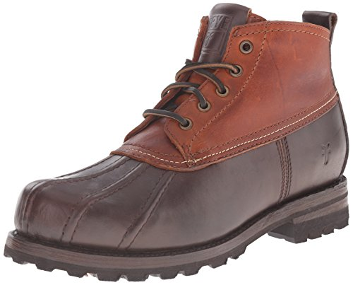FRYE Men's Warren Duck Winter Boot, Espresso/Cognac, 7.5 M US