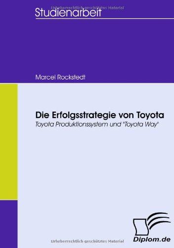 """Die Erfolgsstrategie von Toyota. Toyota Produktionssystem und """"Toyota Way"""" thumbnail"""