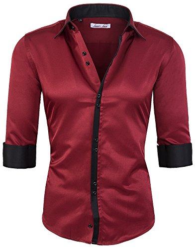 Rock Creek camicia Slim Fit Business Kent colletto camicia da