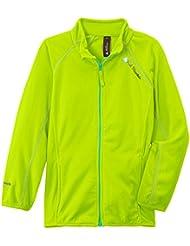 Peak Mountain Gafone/af - Chaqueta de esquí para niña, color verde fosforescente, talla FR : 16 ans (Talla fabricante : 16)