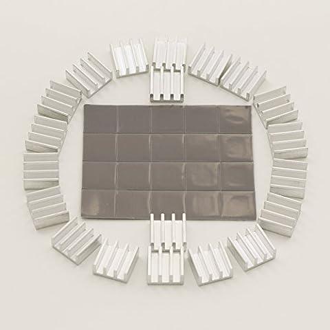 bntechgo® Alluminio Dissipatore di calore Pinna 11mm x 11mm x 5.5mm
