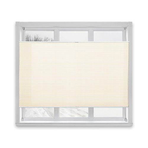casa pura® Plissee Rollo | mit eleganter Crushed Optik | Klemmfix ohne Bohren | lichtdurchlässig & blickdicht | offwhite | 24 Größen (110x100cm)