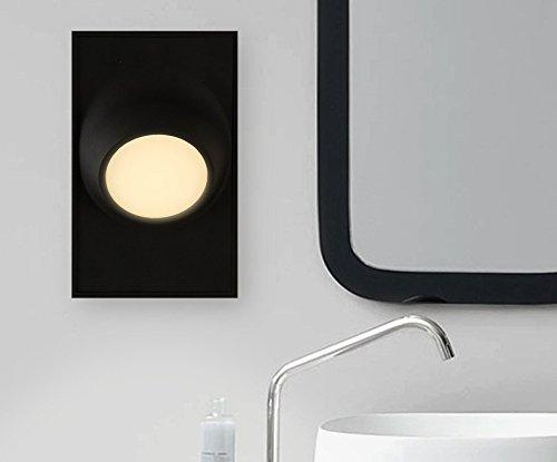 BOOTU LED Wandleuchte nach oben und unten Wandleuchten Led-Wandleuchte in Wohnzimmer, Kunst Galerie Schlafzimmer treppen Bad Wand Lampen, Classic schwarz (Für Das Schwarz-wand-kunst Bad)