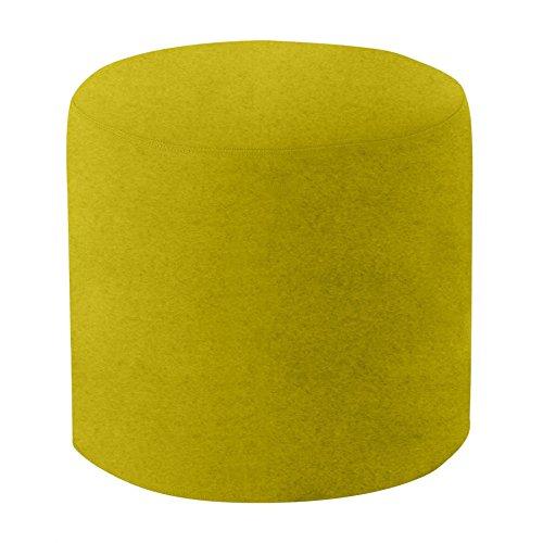 Softline Drum Hocker/Beistelltisch M, gelb-grün Stoff Felt 847 H 40cm Ø 45cm