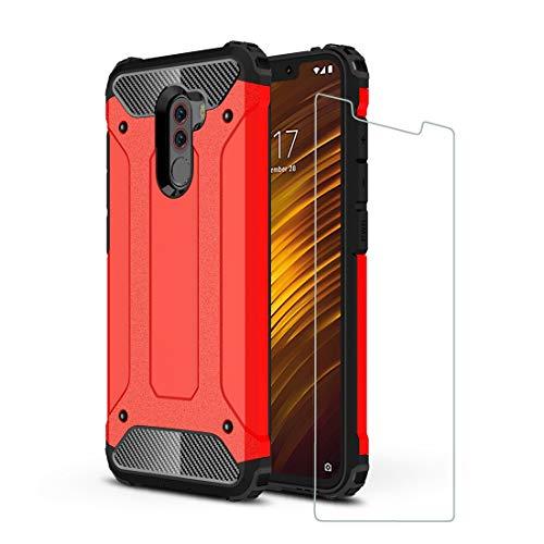 DESCHE Funda Xiaomi Pocophone F1 Hard PC Soft TPU