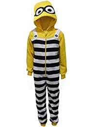 Despicable Me Minions Boys Fleece Feel encapuchado Traje de baño de una pieza