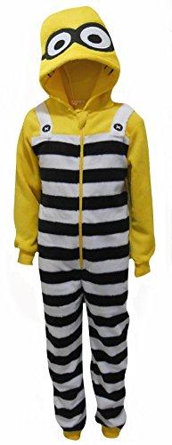 s Boys Fleece fühlen Sich mit Kapuze One Piece Sleepsuit 3-4 Jahre (104cm) ()