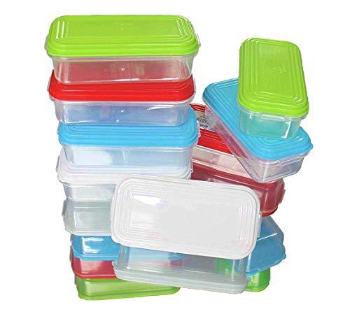NEEZ Juego de recipientes para comida de bebé, Comida para bebés Recipientes, Calentadores de comida para comida alimentación (Pack of 8-250ml)