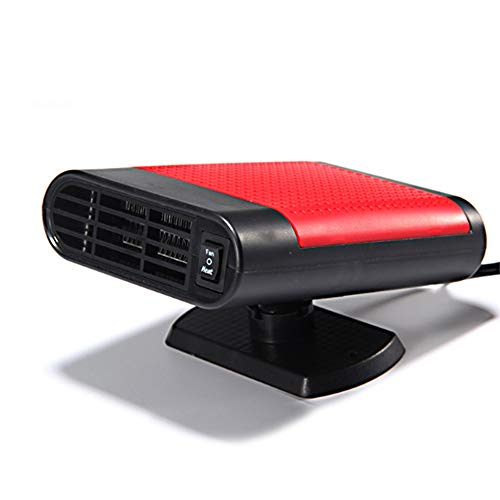 KOBWA Calentador de Coche portátil, 12 V, 150 W, 2 en 1, Ventilador portátil de refrigeración para calefacción, descongelador de Coche, Enchufe para mechero con Soporte Giratorio de 360 Grados