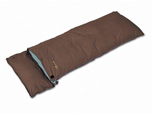 Bertoni Comfort 700 70/30 Daunen/Federnschlafsack mit Reißverschluß für Camping, Wohnwagen, Wohnmobil und Zuhause, Braun, Einheitsgröße