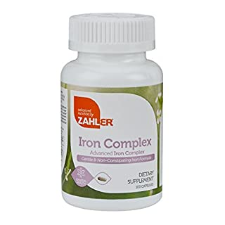 Advanced Nutrition By Zahler Iron Complex, 100 Capsules