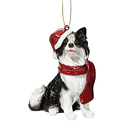 Beautiful Christmas Dogs Bauble Ornament