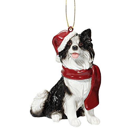 Ornamenti di natale - ornamenti di natale border collie vacanze per cani