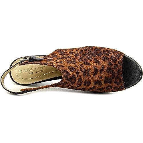 Naturalizer Distant Femmes Toile Sandales Brown Leopard