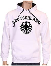 Coole-Fun-T-Shirts Sweatshirt Deutschland Adler WM 2014 Brasilien Bico Hoodie mit Kapuze - Sweat-shirt - Homme