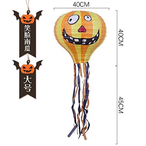 Mjia Lamp Halloween-Schnur,Spinnen-Heißluft-Ballon-Papierlaterne, Halloween-Park-Partei-Dekoration, D