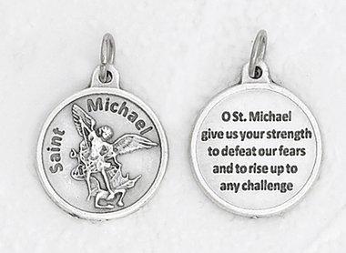 St. Michael Patron Saint round medallion