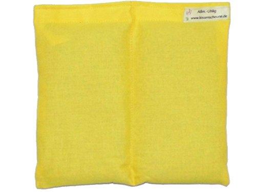 Preisvergleich Produktbild Körnerkissen Weizen 20x20cm gelb Wärmekissen