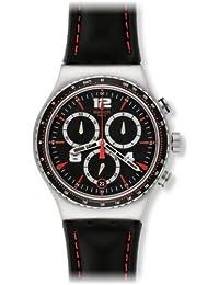 Swatch Herren-Armbanduhr XL New Irony Chrono Pudong Chronograph Quarz Leder YVS404