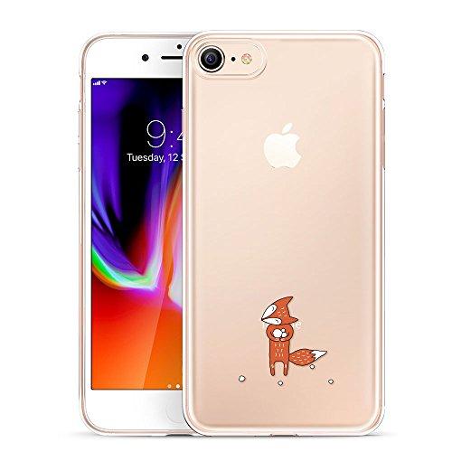 ESR iPhone 8 Hülle, iPhone 7 Hülle, Transparent [Weich Silikon][Ultra Dünn] mit Tiere Motiv Schutzhülle für Apple iPhone 8/7 4.7 Zoll 2017 Freigegeben. (Fuchs)
