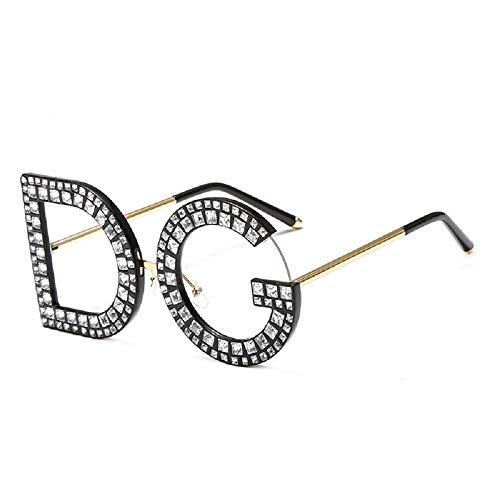WJP Personalisierte Brille DG Diamond Sonnenbrillen, Anti-UV-Brille, Frauendekorationsbrillen,8,cm